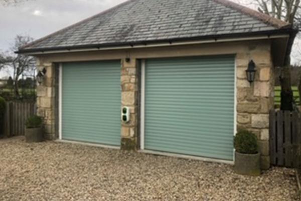 An image of a set of garage doors