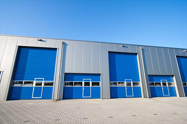 An image showing some sectional doors