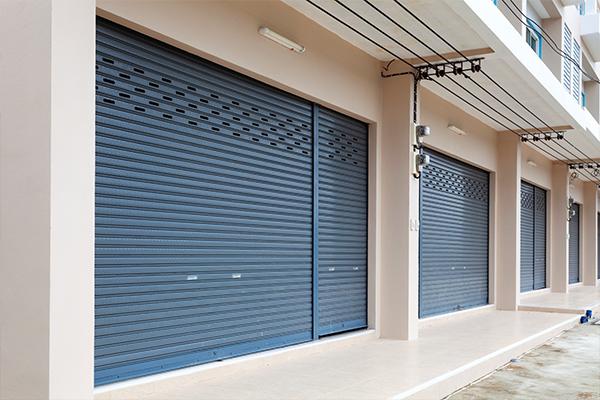 An image showing some roller shutter doors